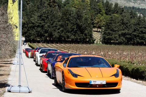 Joining passion and nature:  Ferrari explores the Beqaa Valley