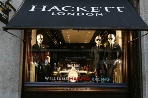 HACKETT BECOMES OFFICIAL CLOTHING PARTNER OF WILLIAMS MARTINI RACING