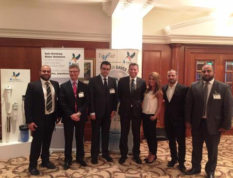"Fairey Industrial Ceramics Ltd. UK"", organized a seminar under the title ""water treatment solution for Emergency Relief and Syrian Refugees""."