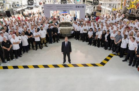 Aston Martin has commenced production of the highly anticipated DB11 for UK customers