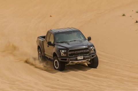 In Dubai's Punishing Deserts, Testing Ford's No-Compromise Off-Road Performance Machine, the All-New F-150 Raptor