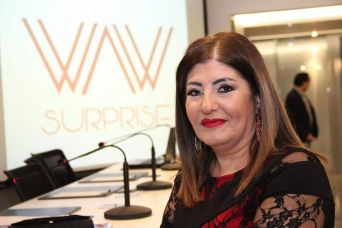 "Journalist Kawssar Hanboury launched her website ""WAW Surprise"""