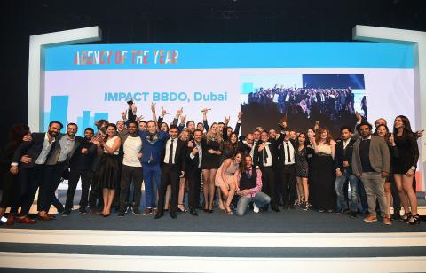 IMPACT BBDO MIDDLE EAST, AFRICA AND PAKISTAN AWARDED WITH PRESTIGIOUS 'NETWORK OF THE YEAR' AND IMPACT BBDO DUBAI WITH 'AGENCY OF THE YEAR' AWARD AT DUBAI LYNX AWARDS