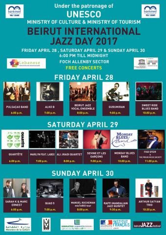 Beirut will join the world to celebrate the UNESCO International Jazz Day from April 28 till April 30