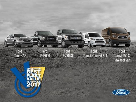 Ford F-150, F-250 Super Duty, Transit, Transit Connect, Taurus Win Vincentric Best Fleet Value in America Awards