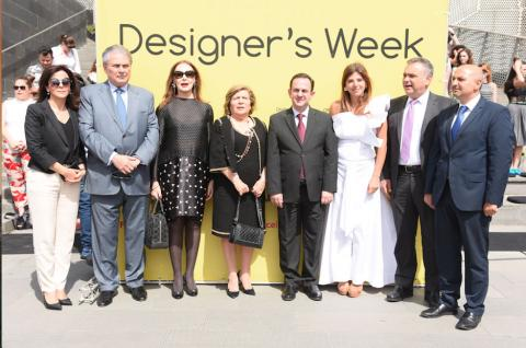 The Minister of Tourism Owadis Kidanian Inaugurates the 5th edition of Designer's Week at Zaitunay Bay under the patronage of the Ministry of Tourism