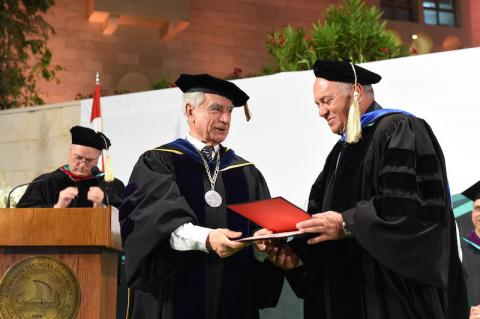 After inspiring generations of business pioneers… Joseph Ghossoub earns Honorary Doctoral degree from LAU