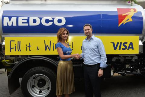 Visa and MEDCO partner to reward cardholders at the gas station
