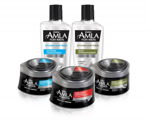 Dabur Amla enters the male grooming category and launches new range of products to address hair fall