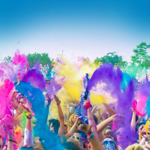 Holi Festival of Colors for the second time in Lebanon
