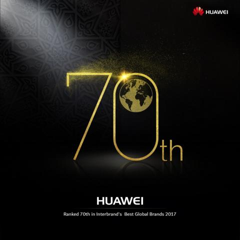 Huawei Ranks 70 on Interbrand's 2017 Best Global Brands Report