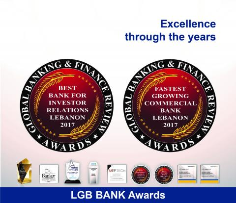 LGB BANK RECONFIRMS ITS LEADERSHIP WITH TWO NEW AWARDS BY GLOBAL BANKING & FINANCE REVIEW; FASTEST GROWING COMMERCIAL BANK AND BEST BANK FOR INVESTOR RELATIONS
