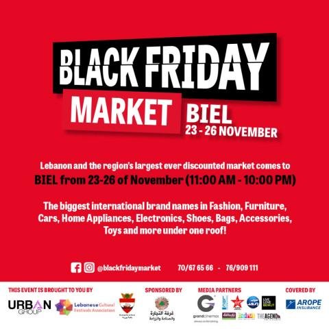Black Friday Market for the first time in Lebanon from November 23 till 26