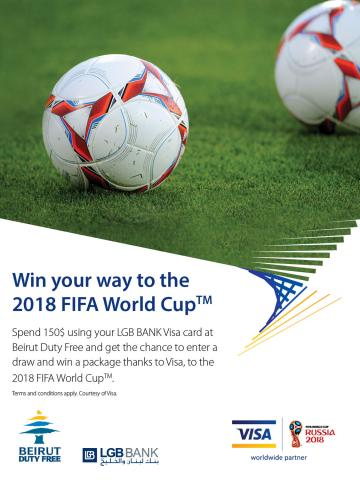 LGB BANK gives Visa cardholders the opportunity to win their way to the 2018 FIFA World Cup