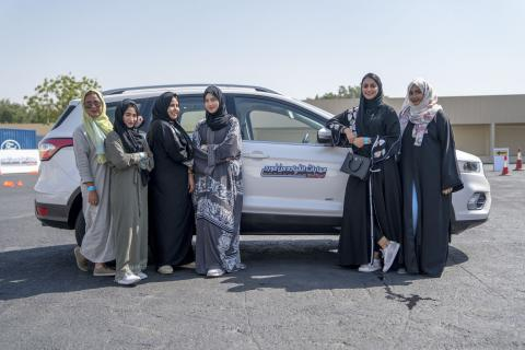 Ford Marks Special Moment in History with Ford Driving Skills for Life for Her Global Debut in Saudi Arabia