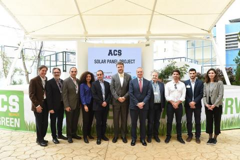 American Community School Beirut inaugurates  Largest solar panel installation on a school campus in Lebanon