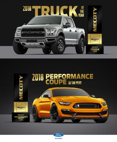 Ford Scoops up Two Wins at Fifth Annual Middle East Car of the Year Awards Ceremony