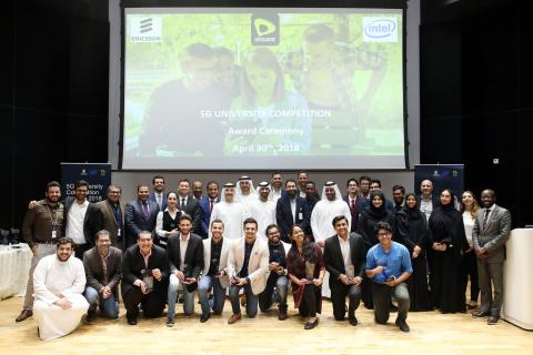 Etisalat, Intel and Ericsson celebrate the winners of the 5G university competition