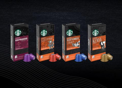 Starbucks® launches new at-home range of espresso capsules