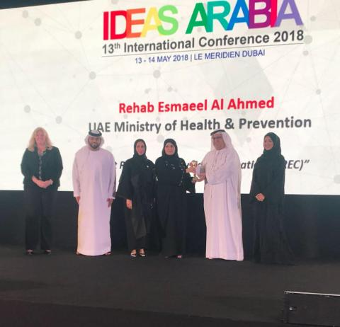 Ministry of Health & Prevention wins 'Global Winner Award' in 'Idea of the Year' category of Ideas Arabia 2018