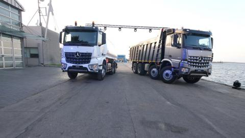 T. Gargour & Fils s.a.l. launches the all-new Mercedes-Benz Arocs  heavy-duty truck in Lebanon at Beirut port.