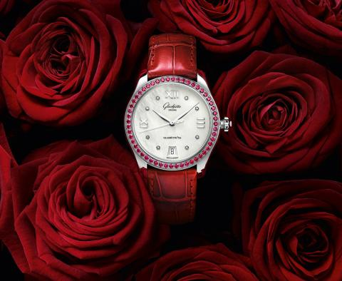 Ruby red declaration of love for Valentine's Day. Glashütte Original presents the Lady Serenade in a limited special edition