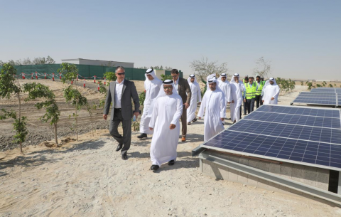 Tadweer Opens Region's First Battery Solar System at Al Dhafra Landfill