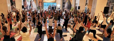 WELLNESS IS A LIFESTYLE; YOGA ENTHUSIASTS COME TOGETHER AT DIFC