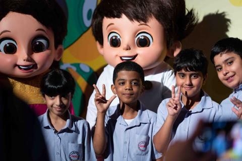 The Expo 2020 Mascots are unveiled as they prepare to go on an exciting adventure through the World's Greatest Show