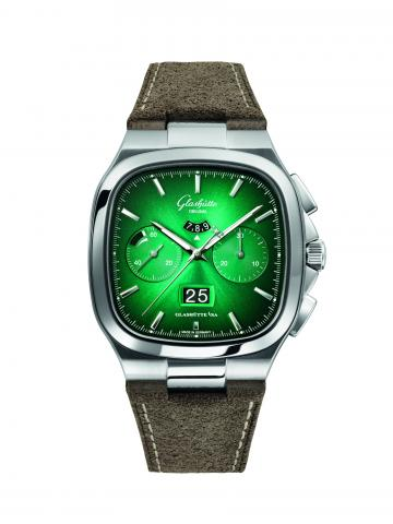 Chronograph in a fascinating colour-play - Special limited edition Seventies Chronograph Panorama Date in green and grey
